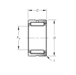 Timken HJ-243320 Rolamentos de agulha