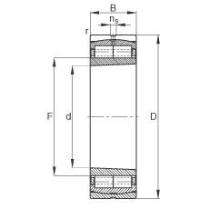 110 mm x 240 mm x 80 mm  FAG Z-567445.ZL-K-C3 Rolamentos cilíndricos