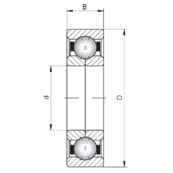 ISO QJ1019 Rolamentos de esferas de contacto angular