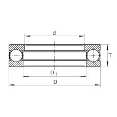 INA GT15 Rolamentos de esferas de impulso