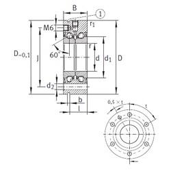 12 mm x 55 mm x 25 mm  INA ZKLF1255-2RS Rolamentos de esferas de impulso