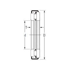 Timken AXZ 8 45 66 Rolamentos de agulha
