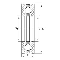 INA 4406 Rolamentos de esferas de impulso