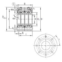 25 mm x 75 mm x 56 mm  INA ZKLF2575-2RS-2AP Rolamentos de esferas de impulso