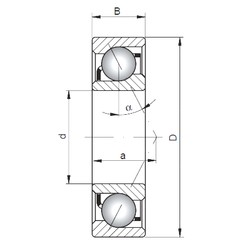 10 mm x 26 mm x 8 mm  ISO 7000 C Rolamentos de esferas de contacto angular