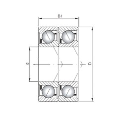 ISO 7210 BDT Rolamentos de esferas de contacto angular