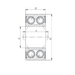 ISO 3203-2RS Rolamentos de esferas de contacto angular