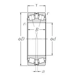 180 mm x 280 mm x 74 mm  NTN 323036E1 Rolamentos de rolos gravados