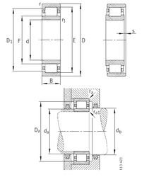 280 mm x 580 mm x 108 mm  FAG NU356-E-M1 Rolamentos cilíndricos