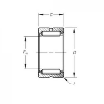 Timken HJ-182616 Rolamentos de agulha