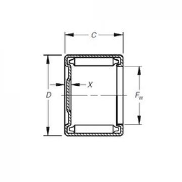 Timken M-1261 Rolamentos de agulha
