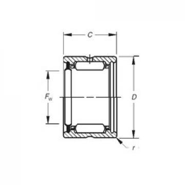 Timken HJ-122016RS Rolamentos de agulha