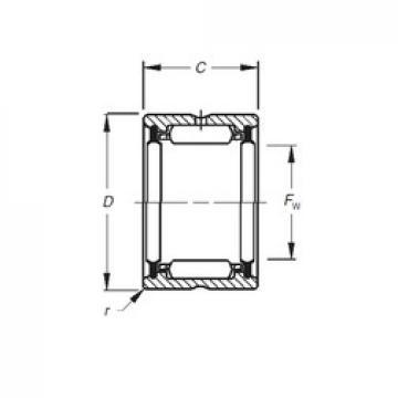 Timken HJ-122016,2RS Rolamentos de agulha