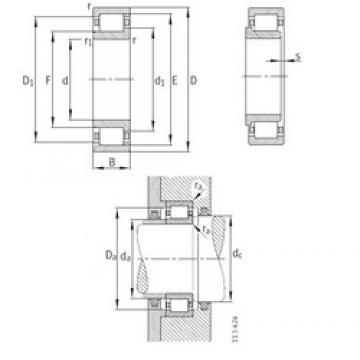 180 mm x 380 mm x 126 mm  FAG NJ2336-EX-M1 Rolamentos cilíndricos