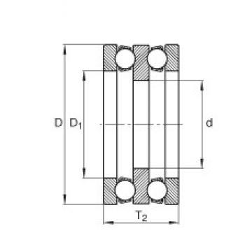 INA 195X02 Rolamentos de esferas de impulso