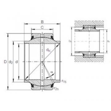 45 mm x 75 mm x 57 mm  SKF BLRB365214B-2RS Rolamentos simples