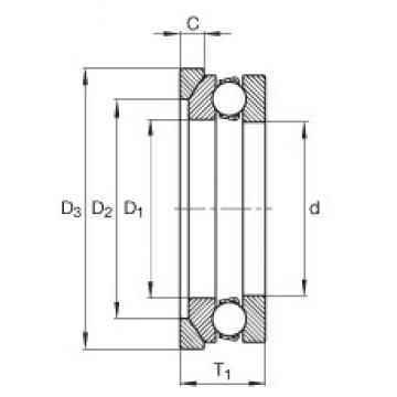 INA 4124-AW Rolamentos de esferas de impulso