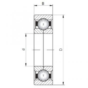 ISO QJ338 Rolamentos de esferas de contacto angular
