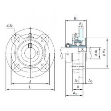NACHI UGFC206 Unidades de rolamento