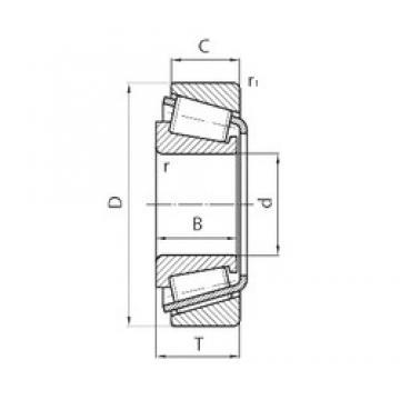 45 mm x 81 mm x 14,4 mm  NTN ET-CR09A23ST/CR09A14ST Rolamentos de rolos gravados