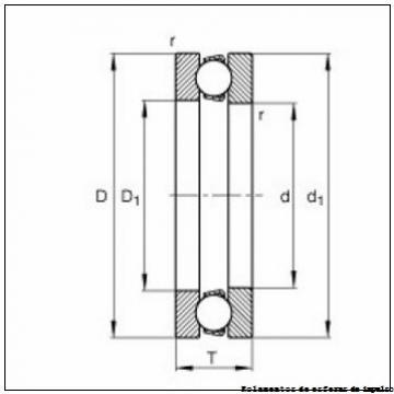 6 mm x 24 mm x 15 mm  INA ZKLN0624-2Z Rolamentos de esferas de impulso