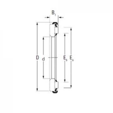 Timken AX 6 70 95 Rolamentos de agulha