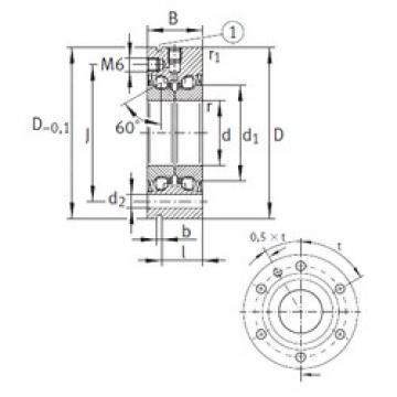 35 mm x 90 mm x 34 mm  INA ZKLF3590-2Z Rolamentos de esferas de impulso