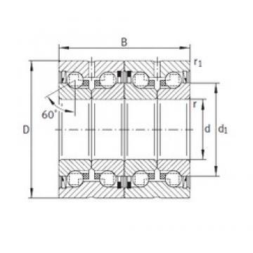 40 mm x 75 mm x 68 mm  INA ZKLN4075-2RS-2AP Rolamentos de esferas de impulso
