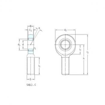 SKF SAL8C Rolamentos simples