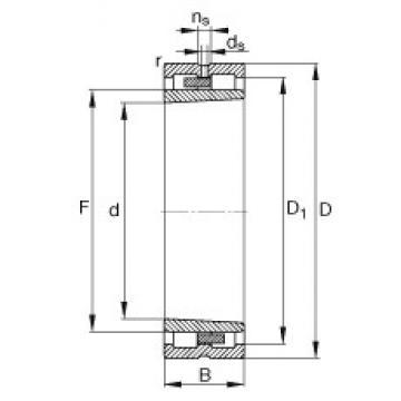 240 mm x 320 mm x 80 mm  FAG NNU4948-S-K-M-SP Rolamentos cilíndricos