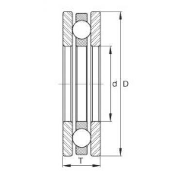 INA DL80 Rolamentos de esferas de impulso