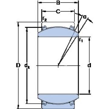 57.15 mm x 90.488 mm x 50.013 mm  SKF GEZ 204 TXE-2LS Rolamentos simples