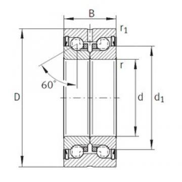 80 mm x 130 mm x 45 mm  INA ZKLN80130-2Z Rolamentos de esferas de impulso