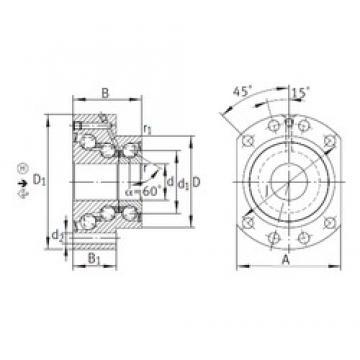 40 mm x 90 mm x 60 mm  INA DKLFA40140-2RS Rolamentos de esferas de impulso
