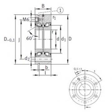 20 mm x 68 mm x 28 mm  INA ZKLF2068-2RS-PE Rolamentos de esferas de impulso