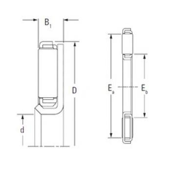 Timken FNTF-3860 Rolamentos de agulha