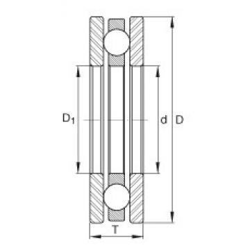 INA 4436 Rolamentos de esferas de impulso