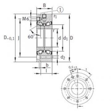 90 mm x 190 mm x 55 mm  INA ZKLF90190-2Z Rolamentos de esferas de impulso