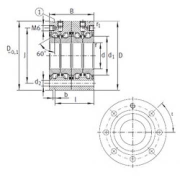 30 mm x 80 mm x 56 mm  INA ZKLF3080-2RS-2AP Rolamentos de esferas de impulso