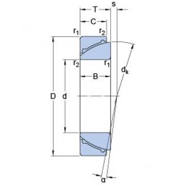 90 mm x 140 mm x 32 mm  SKF GAC 90 F Rolamentos simples