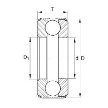 INA D37 Rolamentos de esferas de impulso
