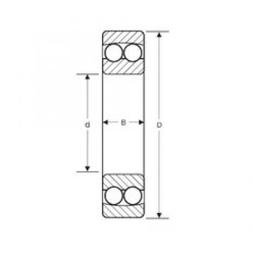 105 mm x 190 mm x 36 mm  SIGMA 1221 Rolamentos de esferas auto-alinhados