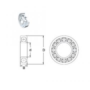 16 mm x 40 mm x 12 mm  ZEN 6203-2Z/16 Rolamentos de esferas profundas