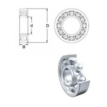 5 mm x 8 mm x 2 mm  ZEN MR85 Rolamentos de esferas profundas