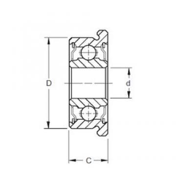 8 mm x 22 mm x 7 mm  ZEN F608-2RS Rolamentos de esferas profundas