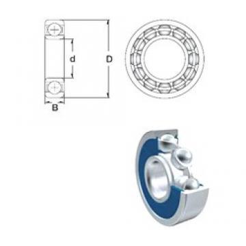 17 mm x 40 mm x 12 mm  ZEN S6203-2RS Rolamentos de esferas profundas