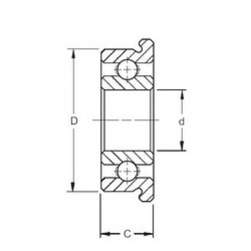 4 mm x 9 mm x 2,5 mm  ZEN F684 Rolamentos de esferas profundas