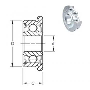 3 mm x 8 mm x 4 mm  ZEN F693-2Z Rolamentos de esferas profundas