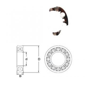8 mm x 24 mm x 8 mm  ZEN P628-SB Rolamentos de esferas profundas