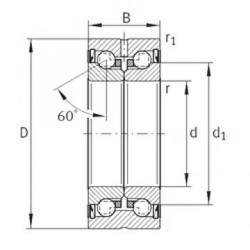 50 mm x 90 mm x 34 mm  INA ZKLN5090-2RS-PE Rolamentos de esferas de impulso